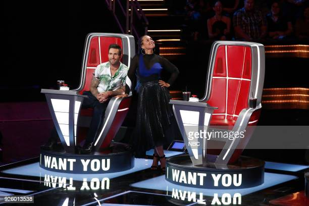 THE VOICE 'Blind Auditions' Pictured Adam Levine Alicia Keys