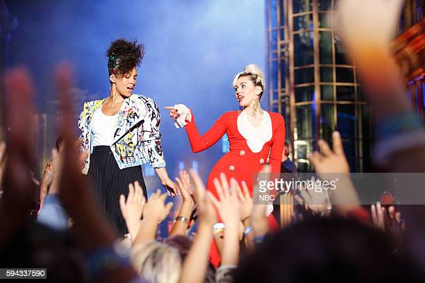 THE VOICE 'Blind Auditions' Pictured Alicia Keys Miley Cyrus
