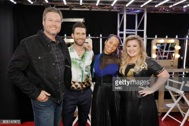 THE VOICE 'Blind Auditions' Pictured Blake Shelton Adam Levine Alicia Keys Kelly Clarkson