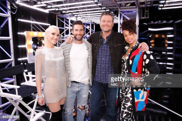 THE VOICE 'Blind Auditions' Pictured Gwen Stefani Adam Levine Blake Shelton Alicia Keys