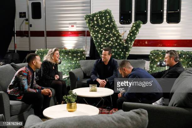 THE VOICE Blind Auditions Pictured John Legend Kelly Clarkson Carson Daly Adam Levine Blake Shelton