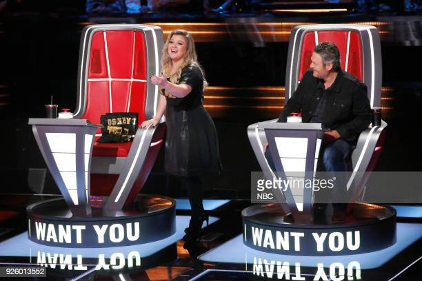 THE VOICE Blind Auditions Pictured Kelly Clarkson Blake Shelton