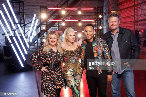 THE VOICE Blind Auditions Pictured Kelly Clarkson Gwen Stefani John Legend Blake Shelton