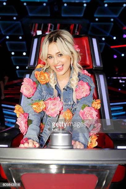 THE VOICE Blind Auditions Pictured Miley Cyrus