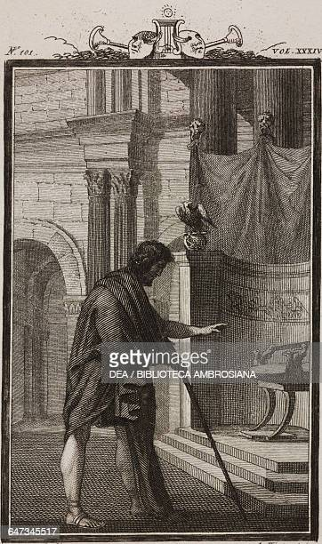 Blind Belisario engraving by Antonio Viviani from a drawing by G Steneri from Belisario Act V Scene IV Comedies Volume 34 by Carlo Goldoni