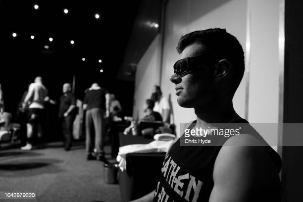 Blind boxer Zachariah Clarkson wait for his fight against Damien Williams during David and Goliath Fight Night on September 28 2018 in Gold Coast...