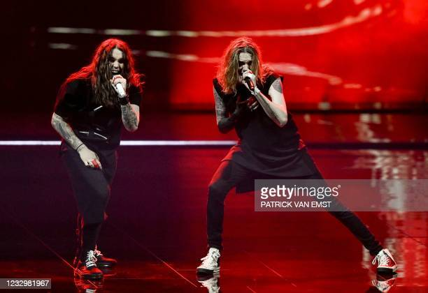 Blind Channel from Finland perform with the song Dark Side during the first dress rehearsal of the second semi-final of the Eurovision Song Contest...