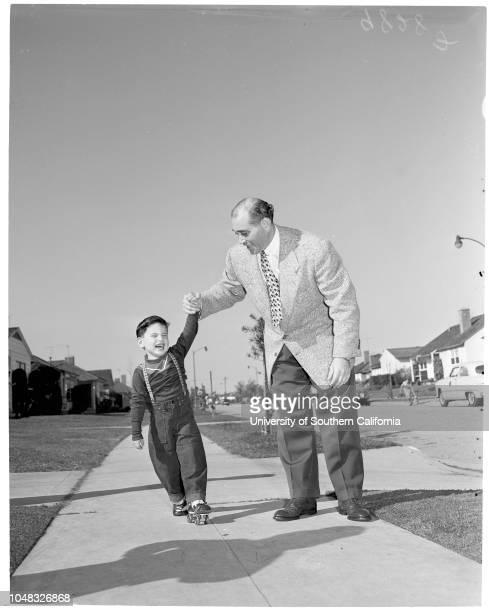 Blind children 13 February 1953 Douglas Mandell 3 1/2 years Terry Erell 4 yearsDonna Sandler 4 yearsMrs Gail SullivanInez Sullivan 3 years Nona Marie...