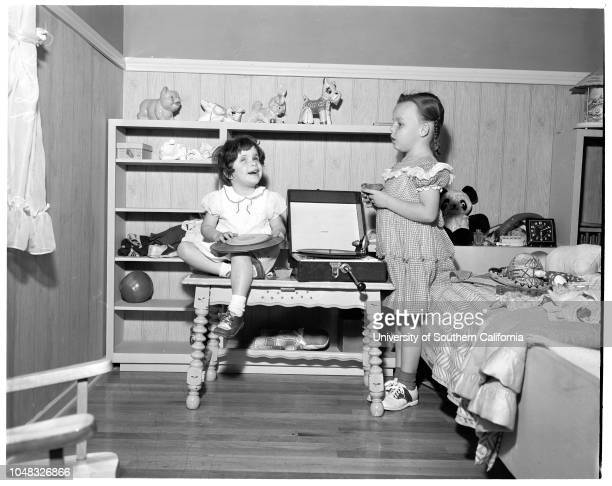Blind children , 19 February 1953. Mrs Rose Conrad;Mike Conrad -- 18 months ;Gail Conrad -- 10 years ;Teresa Forbes -- 9 months ;Royal Forbes -- 36...