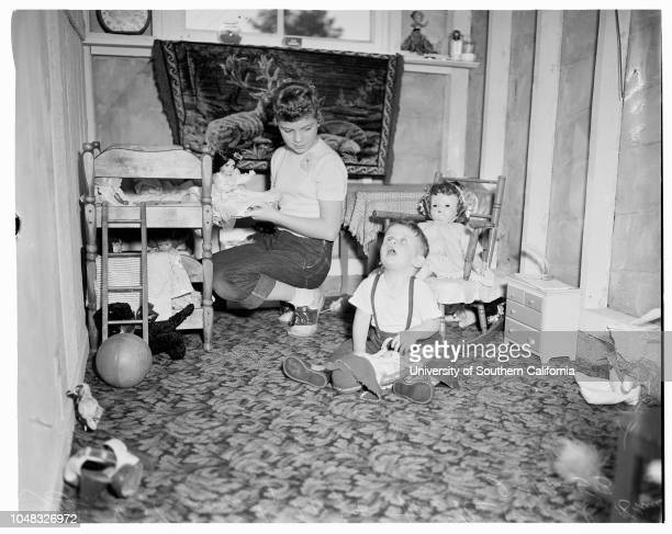 Blind children 19 February 1953 Mrs Rose ConradMike Conrad 18 months Gail Conrad 10 years Teresa Forbes 9 months Royal Forbes 36 years Mrs Dorothy...