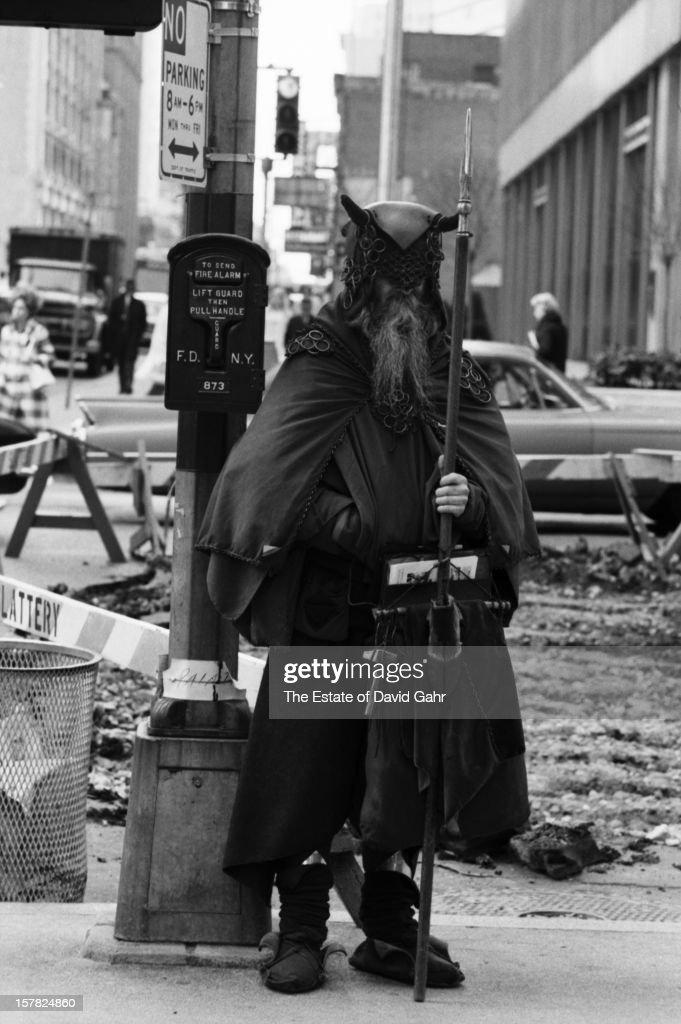 Blind composer, musician, poet and street performer Moondog