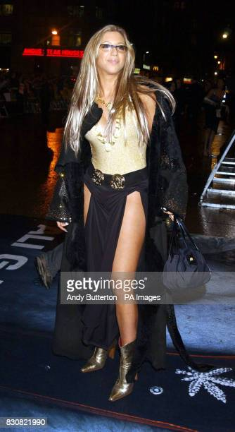 Blind Date contestant Emma Jones arriving at the Empire Cinema in London's Leicester Square for the premiere of Ali G InDaHouse