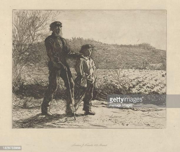 Blind Man , 1863. Artist Fred Walker.