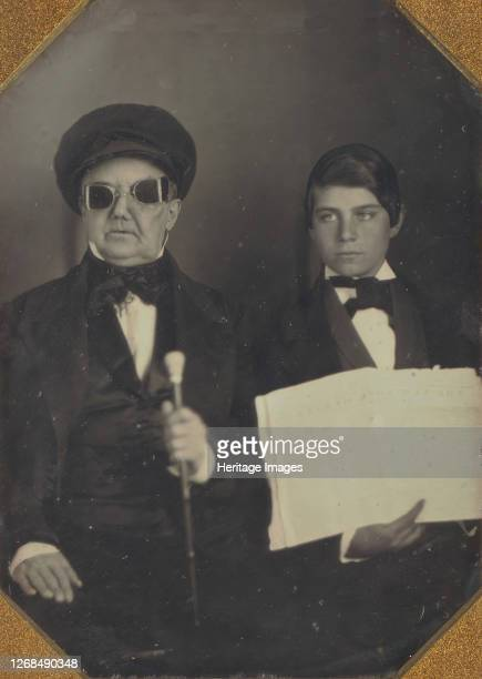 Blind Man and His Reader, circa 1850. Artist Unknown.