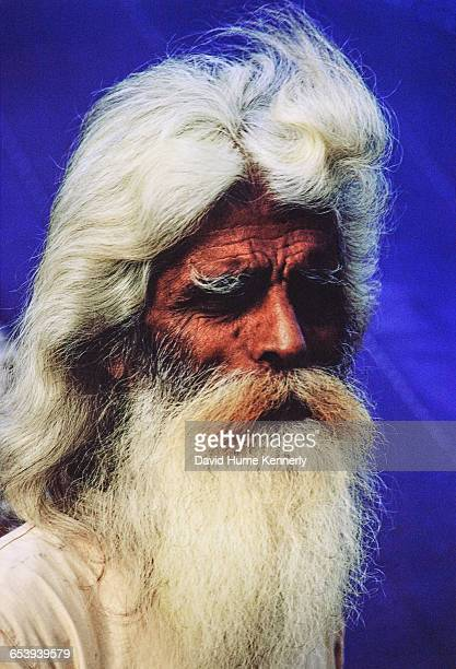 Blind man at a refugee camp filled with East Pakistani refugees 1971 on the outskirts of Calcutta the capital of West Bengal and India's largest city...