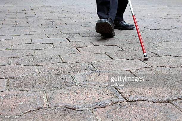 blind man zu Fuß
