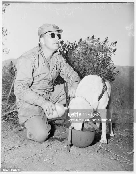 Blind Marine Camp Pendleton 4 September 1951 Sergeant WR Linderfelt Private First Class RT CokerPrivate First Class HH NapierPrivate First Class...