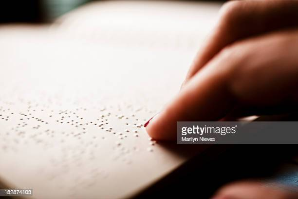 blind person reading. - braille stock pictures, royalty-free photos & images