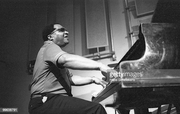 Blind pianist Herman Foster performs live with the Lou Donaldson quartet at Bimhuis in Amsterdam, Netherlands on July 04 1985