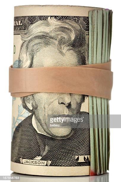 blindfolded roll of cash