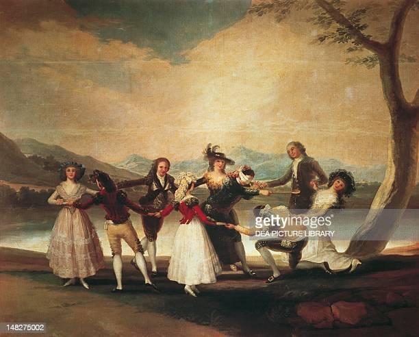 Blindman's bluff 17881789 by Francisco de Goya cartoon for tapestry 269x350 cm Madrid Museo Del Prado