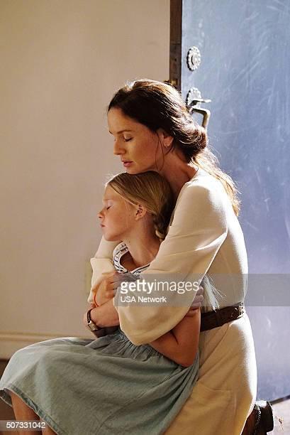 "Blindspot"" Episode 104 -- Pictured: Isabella Crovetti-Cramp as Grace Bowman, Sarah Wayne Callies as Katie Bowman --"