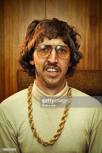 bling retro mustache man - bling bling stock pictures, royalty-free photos & images