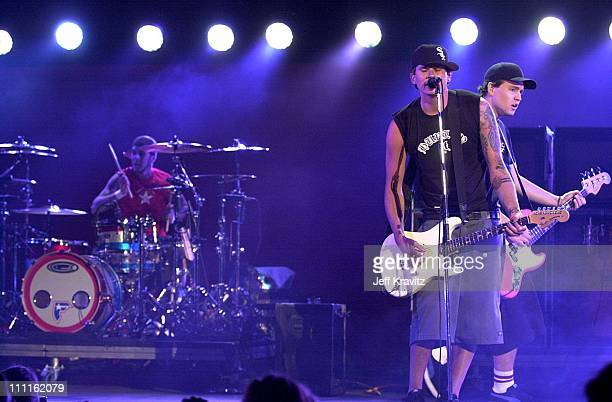 Blink 182 during 2001 KROQ Weenie Roast in Irvine California United States