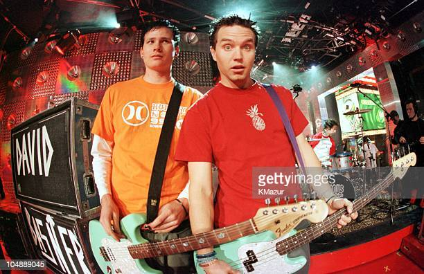 Blink 182 during MTV New Year's Eve Bash 2000 at MTV Studios in Times Square in New York City New York United States