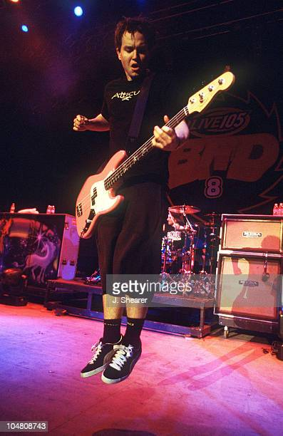 Blink 182 Mark Hoppus during Live 105's BFD 8 Big Friggin Deal Concert at Shoreline Amphitheatre in Mountain View California United States