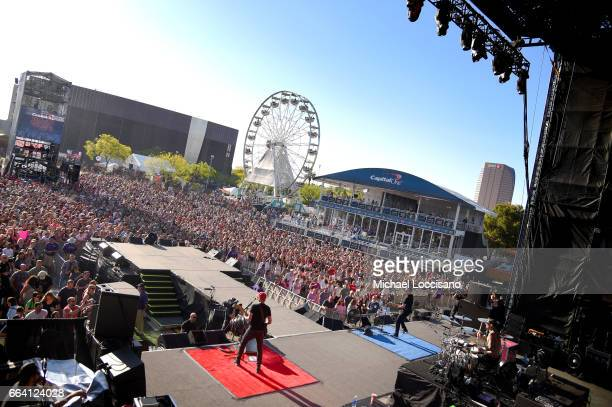 Blink182 performs at the Capital One JamFest during the NCAA March Madness Music Festival 2017 on April 2 2017 in Phoenix Arizona