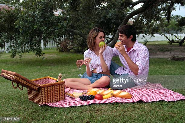 Bliss and Daniel: Eating.