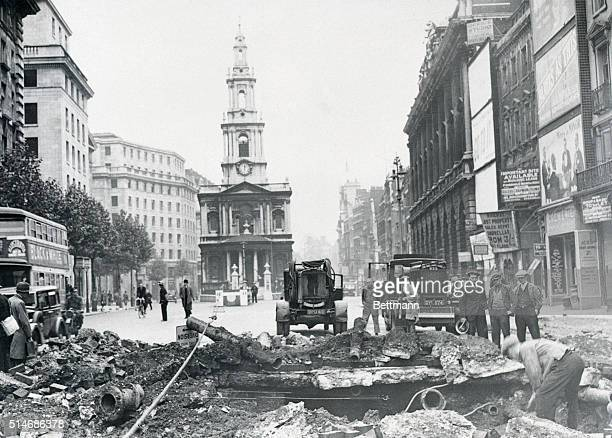 Blitz Damage in London's Strand 1940