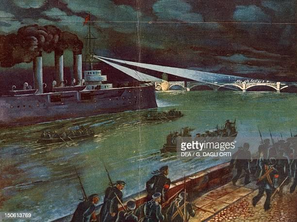 Blitz of the sailors of the cruiser Aurora October 1917 Russian Revolution Russia 20th century
