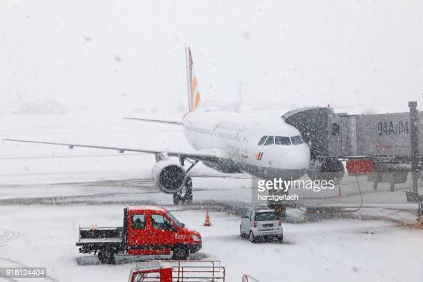 Blizzard at Hamburg International Airport