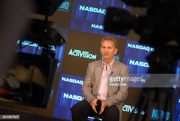 Blizzard Entertainment's president, CEO and cofounder Mike Morhaime talks to a reporter on the 20th Anniversary of the PC and online games company...