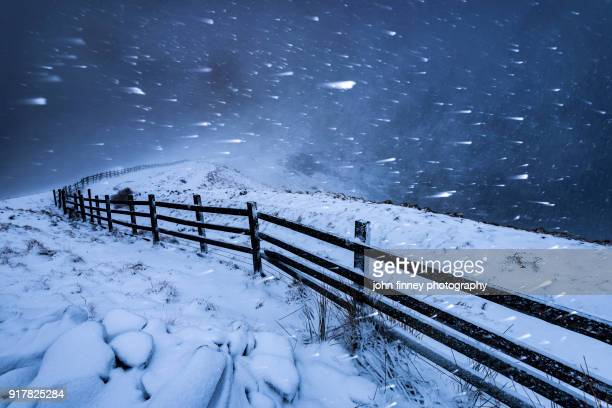 Blizzard in the High Peak. English Peak District. UK.