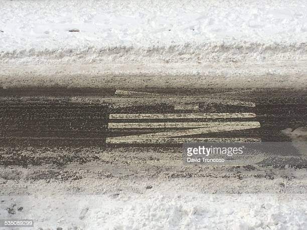 blizzard of 2015 - mulberry street stock pictures, royalty-free photos & images