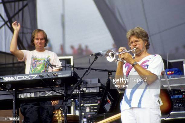 Bll Payne and Fred Tackett performing with 'Little Feat'' at Autzen Stadium in Eugene Oregon on June 24 1990
