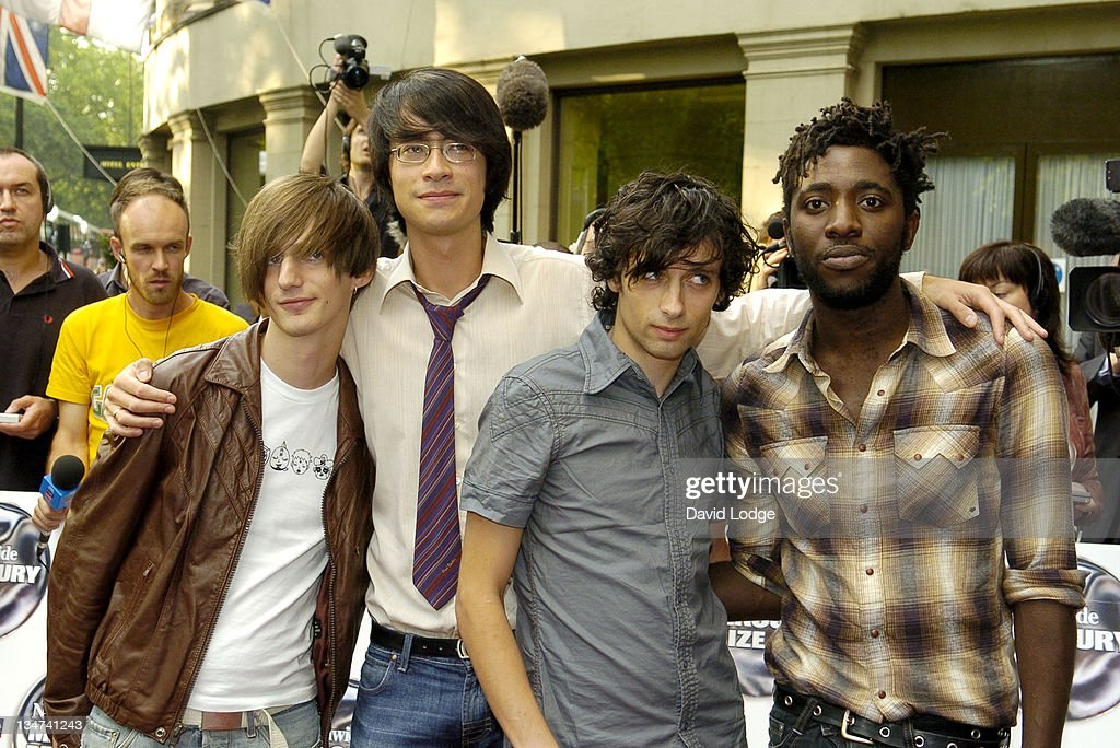 Bloc Party during 2005 Nationwide Mercury Music Prize at Grosvenor House in London, Great Britain.