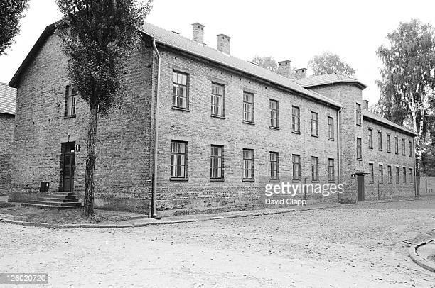 block 3 where prisoners were tortured, birkenau concentration camp, auschwitz, poland - birkenau stock pictures, royalty-free photos & images