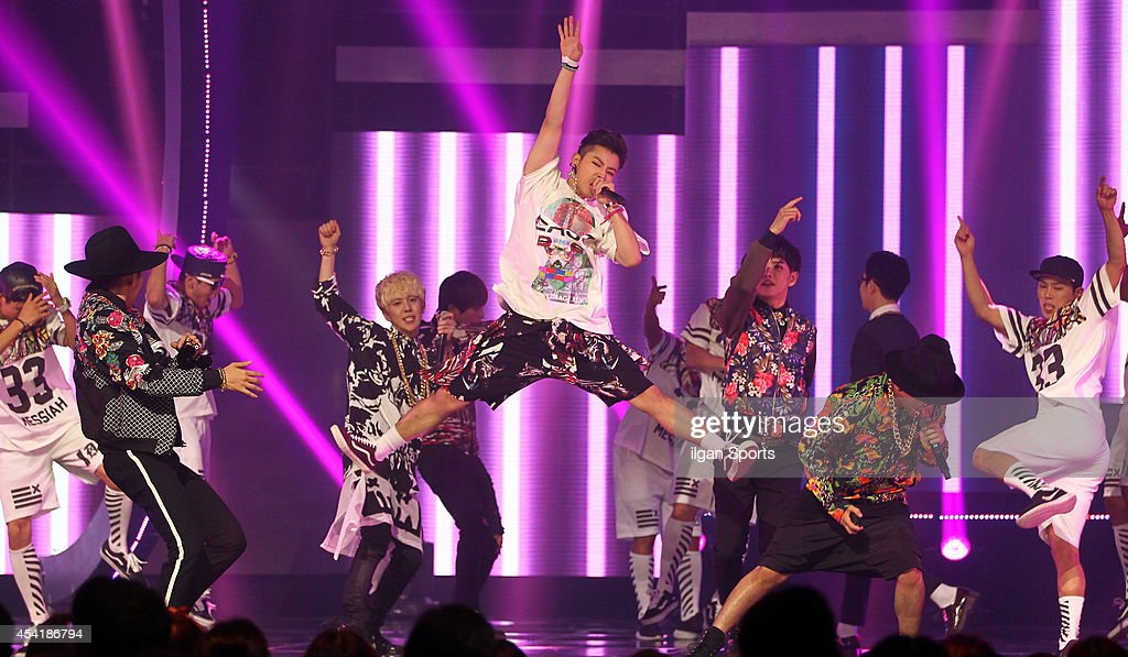 Block B perform onstage during the Mnet 'M Count Down' at CJ E&M center on August 21, 2014 in Seoul, South Korea.