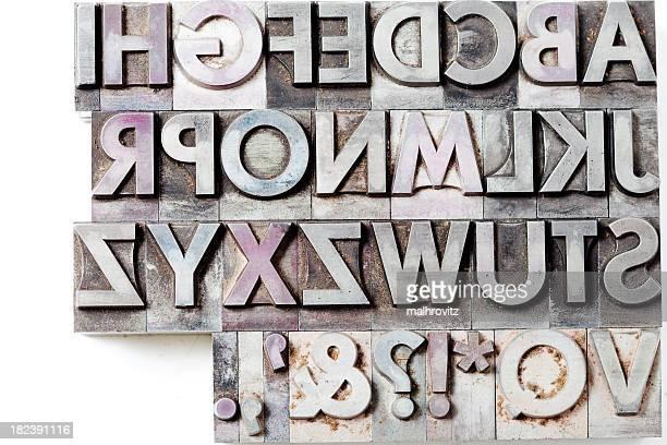 Lettres majuscules isolé sur blanc
