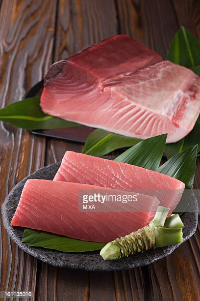 Block of Pacific Bluefin Tuna and Sashimi Block of Medium Fatty Tuna