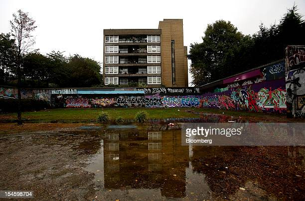 A block of residential apartments are seen on the Trellick and Edenham housing estate in London UK on Friday Oct 19 2012 In London in particular...