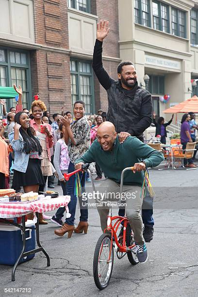 BUCK Block Party Episode 107 Pictured James Lesure as Will Russell Mike Epps as Buck Russell