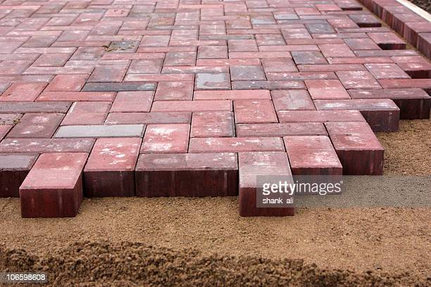 block paving - paving stone stock pictures, royalty-free photos & images