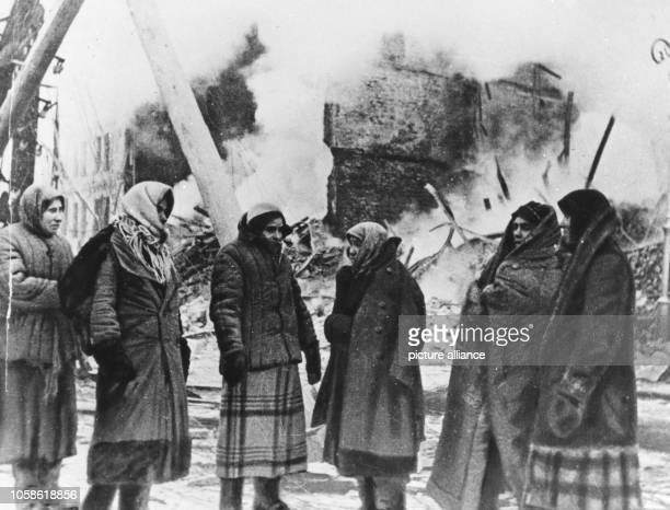 Blockade of Leningrad in winter - no heat, no home, no bread. Picture taken in the winter between 1941 and 1944. The attack of the German Wehrmacht...
