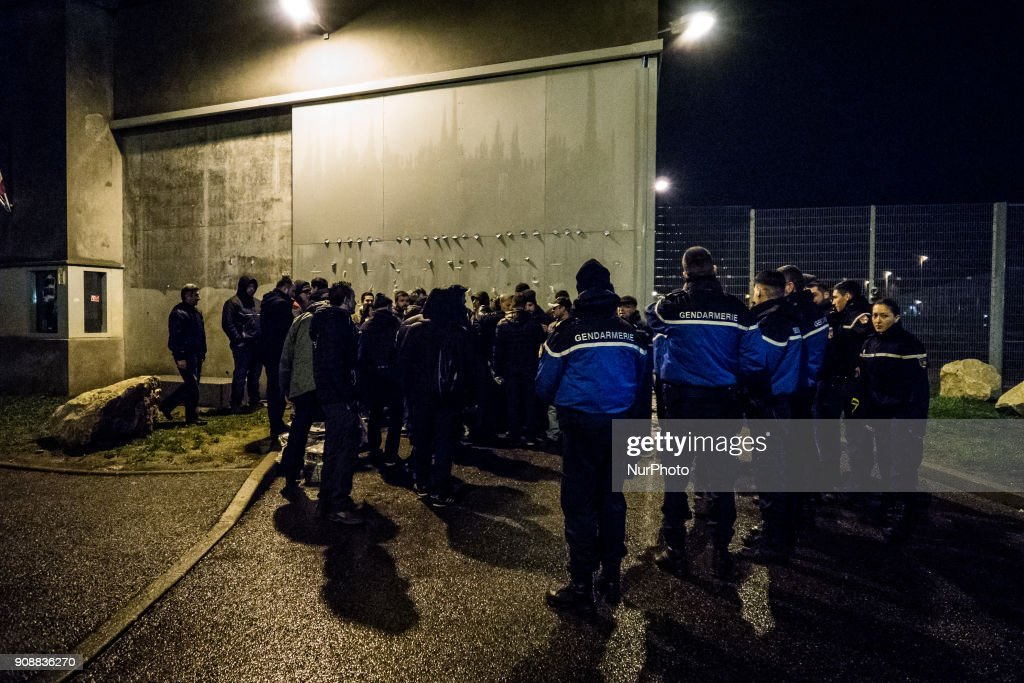Blockade of the Corbas prison near Lyon