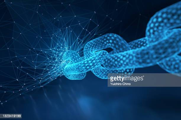 blockchain and network background - cryptocurrency stock pictures, royalty-free photos & images